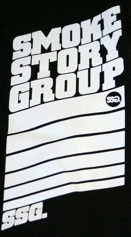 SSG SMOKE STORY GROUP BLUZA STRIPS BLACK