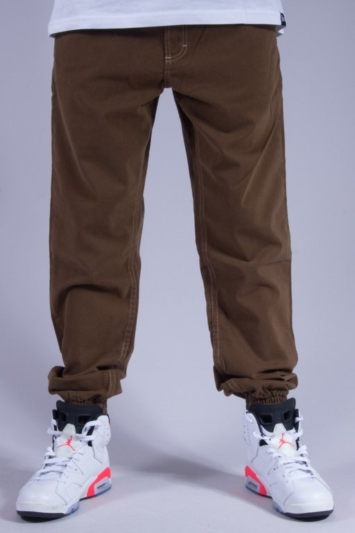 SSG SPODNIE CHINO JOGGER CASUAL BROWN