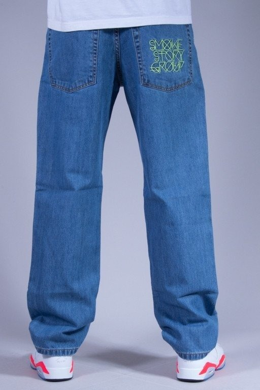 SSG SPODNIE JEANS REGULAR MODERN LIGHT-GREEN