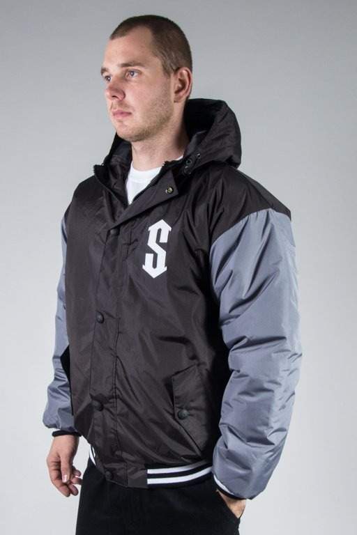 SSG WINTER JACKET FLYERS DOUBLE COLOR BLACK-GREY