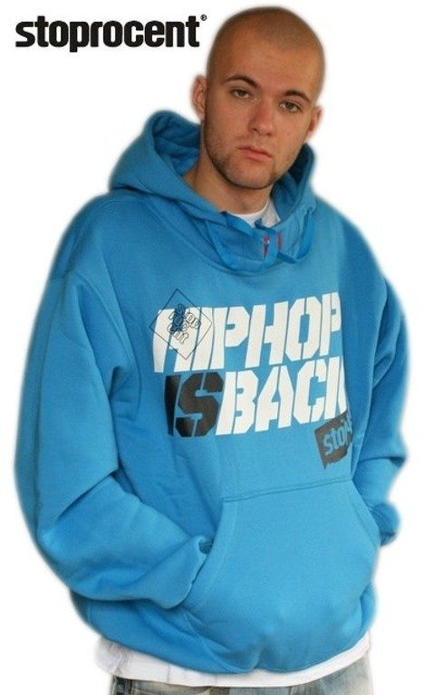 STOPROCENT BLUZA Z KAPTUREM HHS BACK BLUE