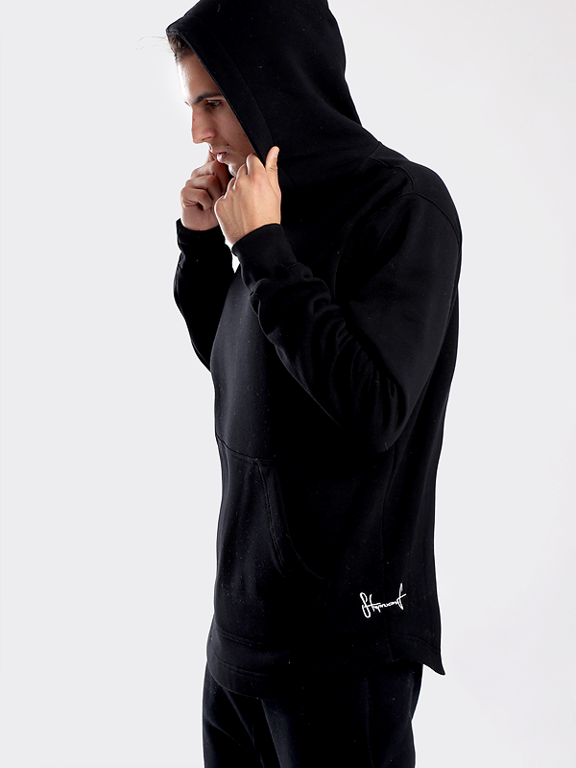 STOPROCENT HOODIE LONG BASE BLACK