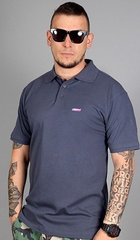 STOPROCENT KOSZULKA POLO SLIM GREY