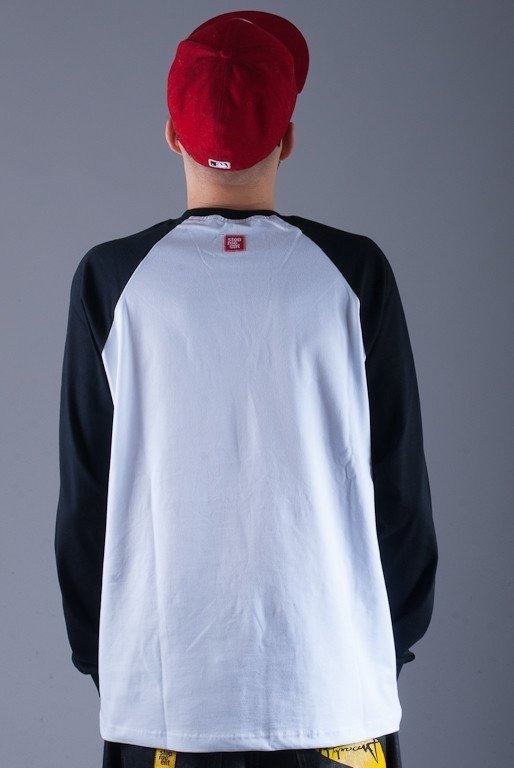 STOPROCENT LONGLEEVE HIPHOP WHITE-BLACK