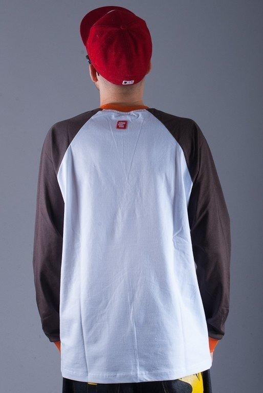 STOPROCENT LONGLEEVE HIPHOP WHITE-BROWN