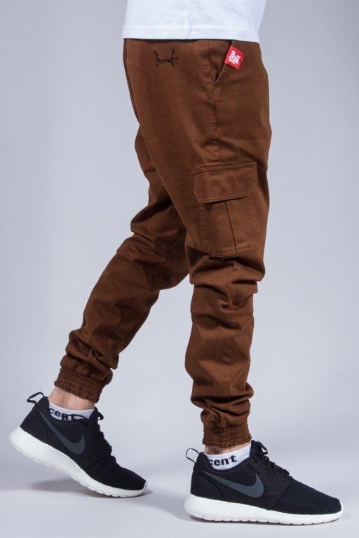 STOPROCENT PANTS CHINO JOGGER ARMY BROWN