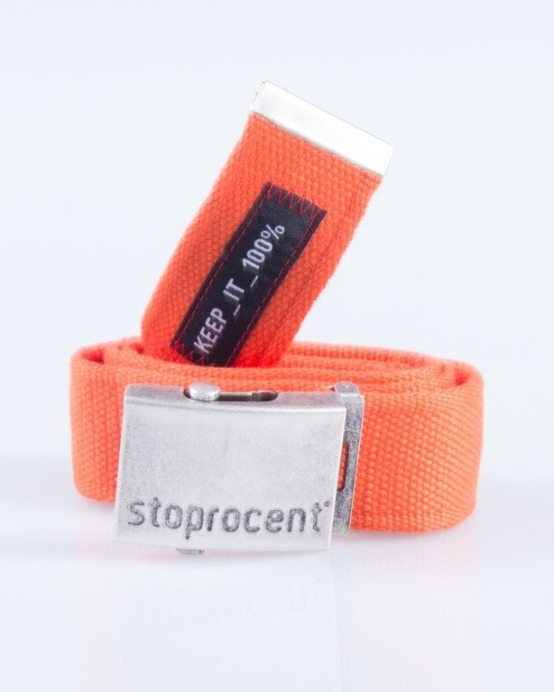 STOPROCENT PASEK PARCIANY CLASSIC SILVER-ORANGE