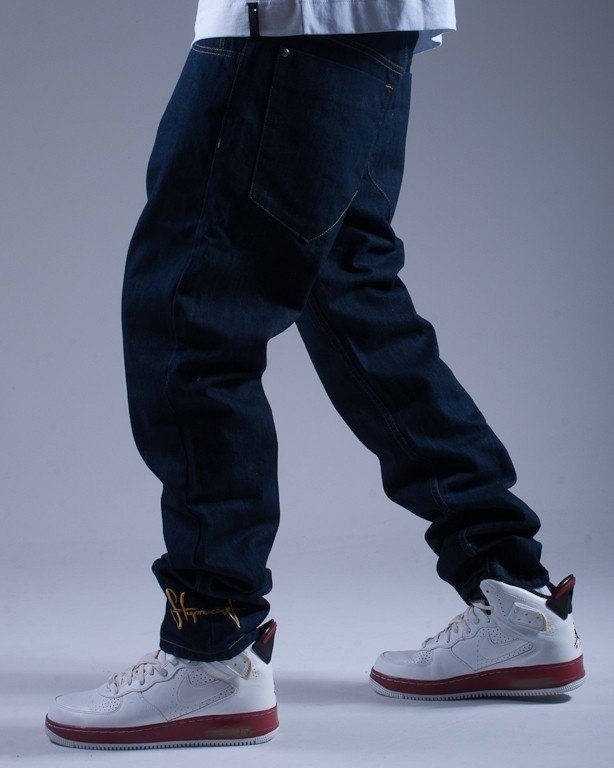 STOPROCENT SPODNIE JEANS SLIM REGULAR BLUE