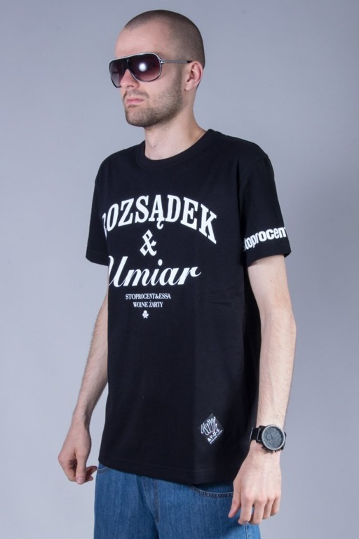 STOPROCENT T-SHIRT UMIAR BLACK
