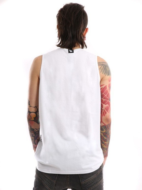 STOPROCENT TANK TOP PRINTAG WHITE