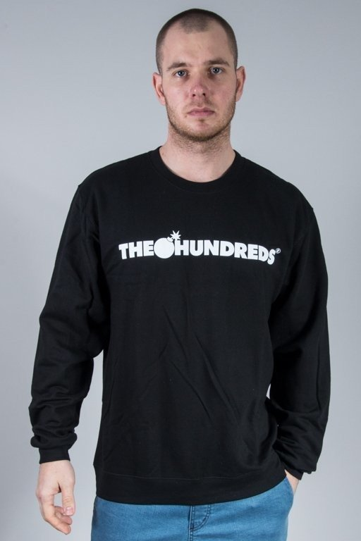 THE HUNDREDS BLUZA BEZ KAPTURA FOREVER BAR BLACK