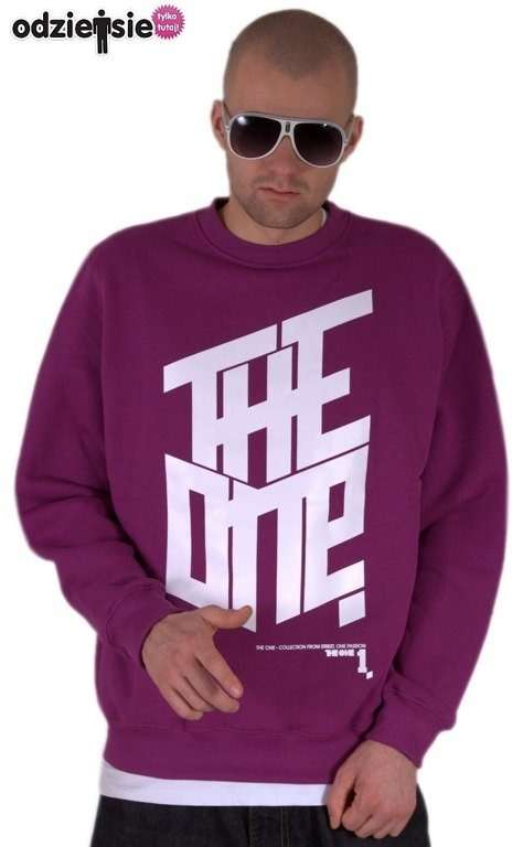 THE ONE BLUZA BEZ KAPTURA THE ONE VIOLET