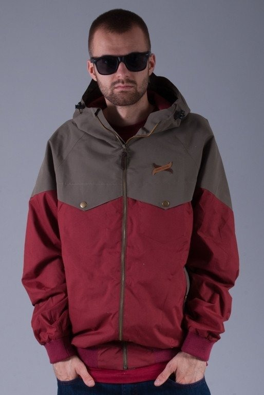 TURBOKOLOR KURTKA EWALD JACKET BURGUNDY-GREEN