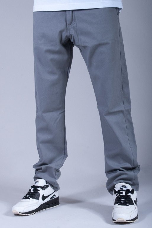 TURBOKOLOR SPODNIE BASIC CHINO SLIM FIT GREY