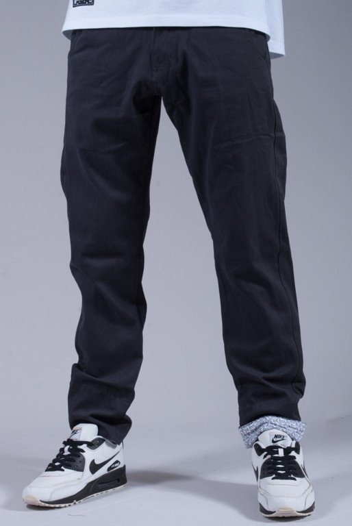 TURBOKOLOR SPODNIE FW14 PREMIUM CHINOS SLIM FIT GRAPHITE