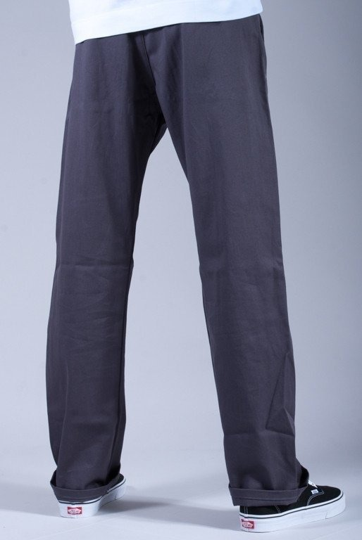 TURBOKOLOR SPODNIE REGULAR FIT CHINOS GRAPHITE