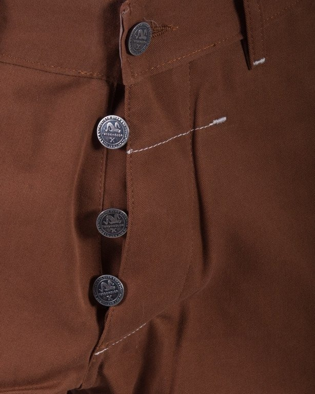 TURBOKOLOR SPODNIE REGULR FIT CHINOS BROWN