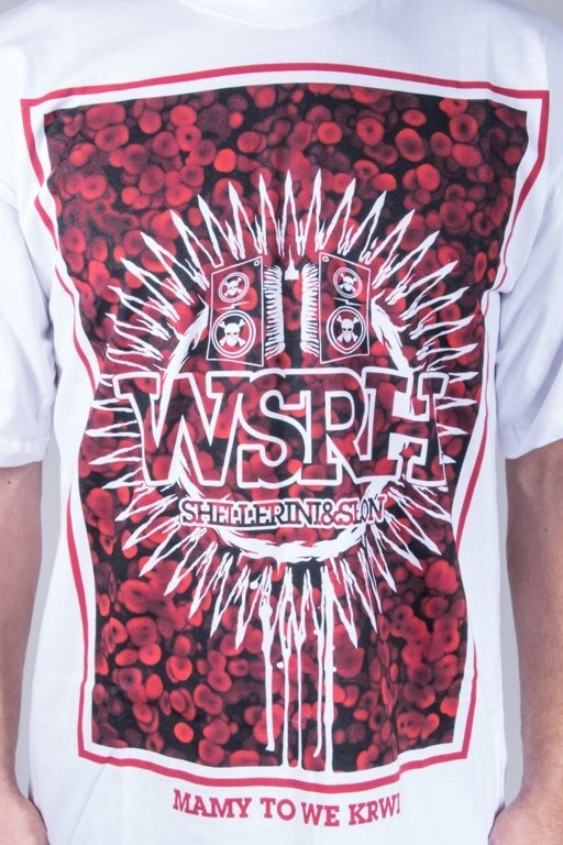 WSRH T-SHIRT BLOOD WHITE-RED