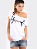 STOPROCENT T-SHIRT GIRL TAGIRL WHITE