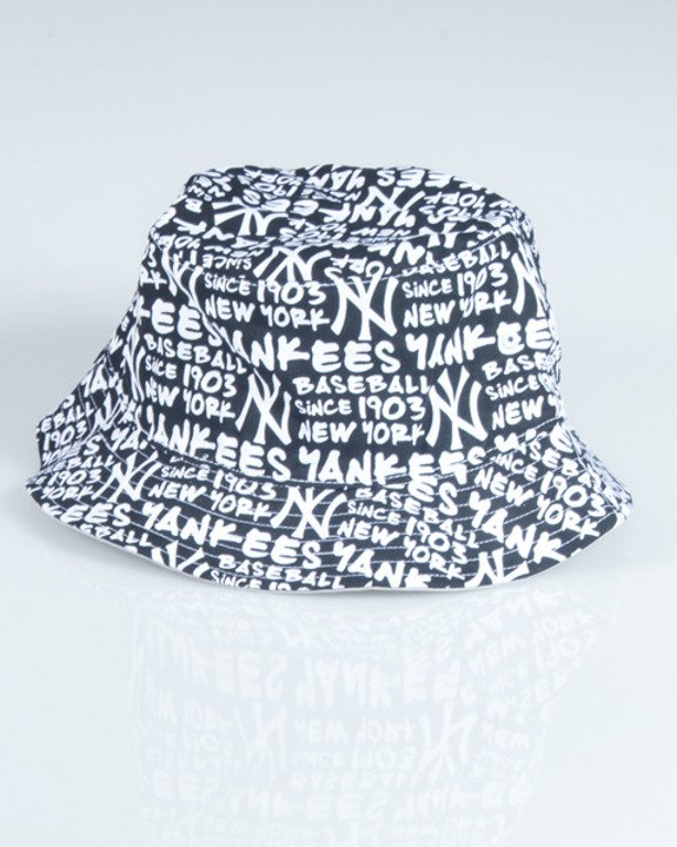 47 BRAND BUCKET HAT NEW YORK YANKEES FAT CAP BLACK-WHITE
