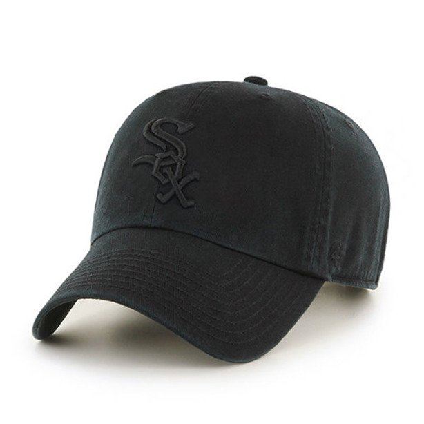 47 BRAND CAP CHICAGO WHITE SOX CLEAN UP BLACK-BLACK