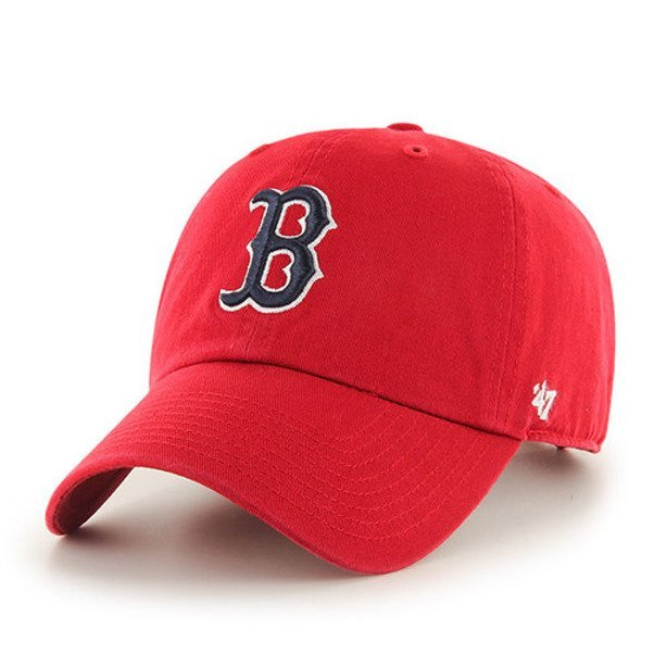 47 BRAND CAP MLB BOSTON RED SOX CLEAN UP RED