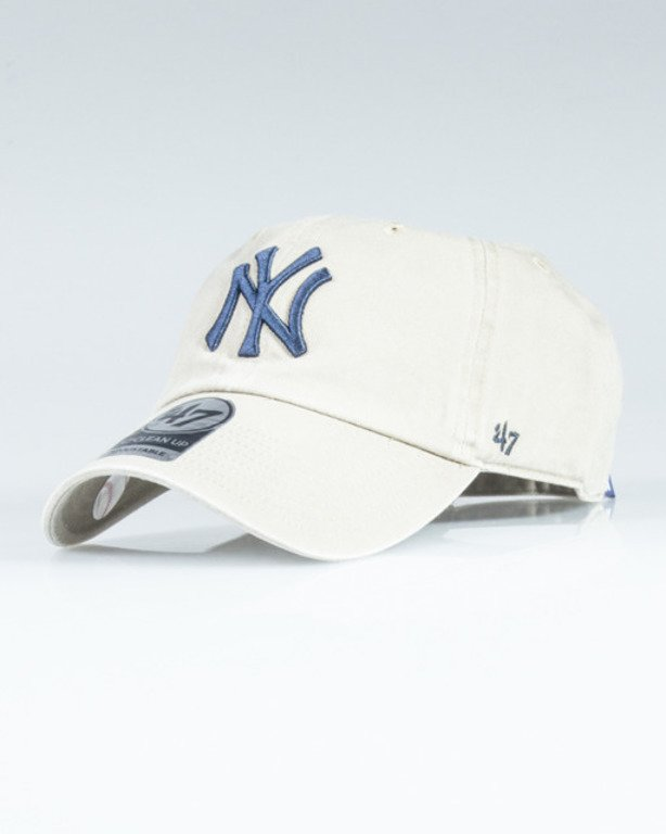 47 BRAND CAP MLB NEW YORK YANKEES CLEAN UP BEIGE