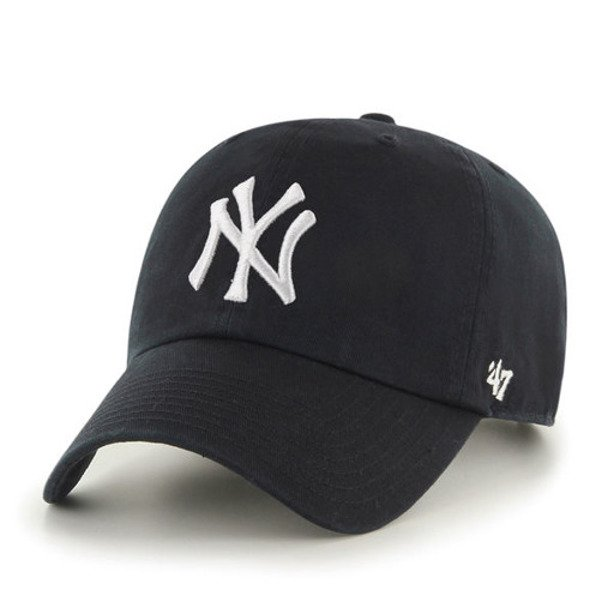 47 BRAND CAP MLB NEW YORK YANKEES CLEAN UP BLACK