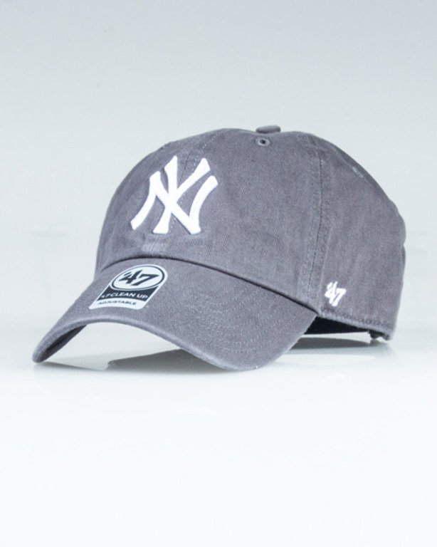 47 BRAND CAP MLB NEW YORK YANKEES CLEAN UP GREY