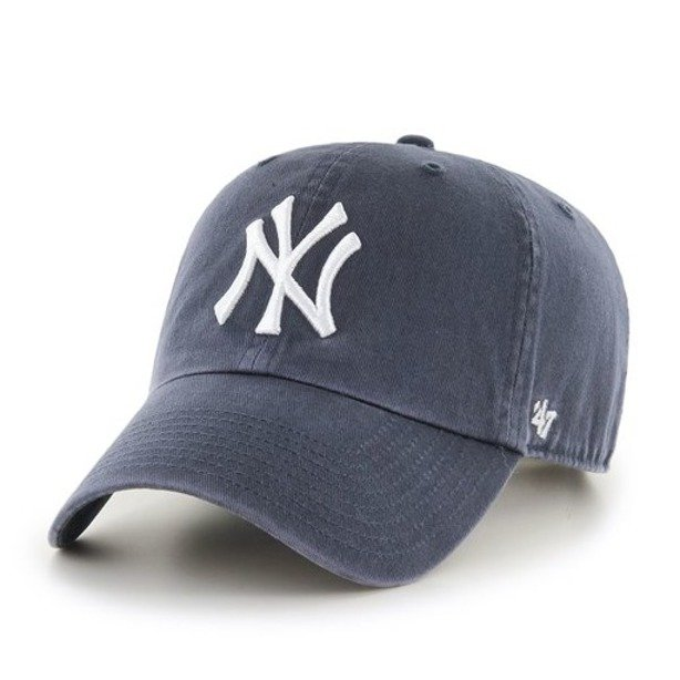 47 BRAND CAP MLB NEW YORK YANKEES CLEAN UP NAVY