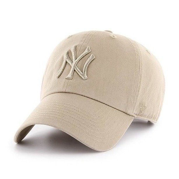 47 BRAND CAP NEW YORK YANKEES CLEAN UP BEIGE-BEIGE