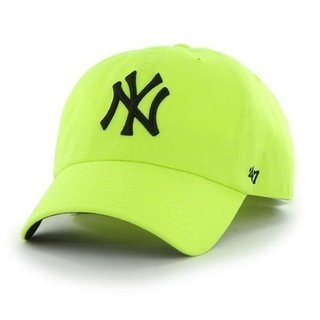 47 BRAND CAP NEW YORK YANKEES CLEAN UP NEON YELLOW