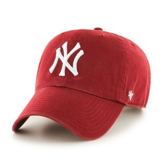 47 BRAND CAP NEW YORK YANKEES CLEAN UP RED