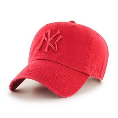 47 BRAND CAP NEW YORK YANKEES CLEAN UP RED-RED