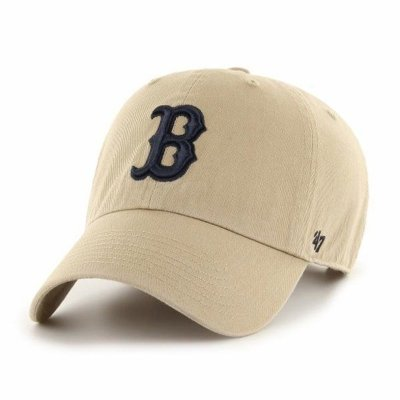 47 BRAND CAP RED SOX BEIGE