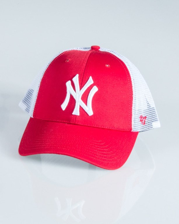47 BRAND CAP TRUCKER NEW YORK YANKEES RED-WHITE