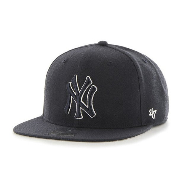 47 BRAND SNAPBACK MLB NEW YORK YANKEES BLACK-BLACK