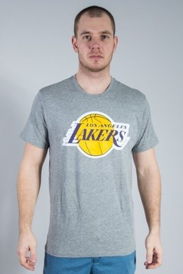 47 BRAND T-SHIRT CLUB MENS SLATE LOS ANGELES LAKERS GREY