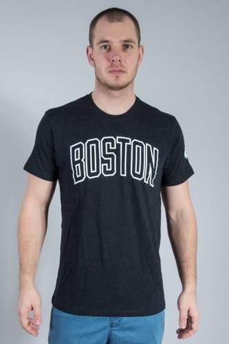 47 BRAND T-SHIRT TEAM CLUB MENS JET BOSTON CELTICS BLACK