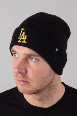 47 BRAND WINTER CAP CUFF KNIT LOS ANGELES DODGERS BLACK-GOLD