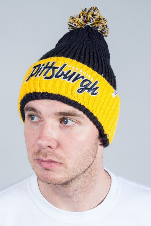 47 BRAND WINTER CAP SKI TRACK CUFF KNIT PITTSBURGH PENGUINS