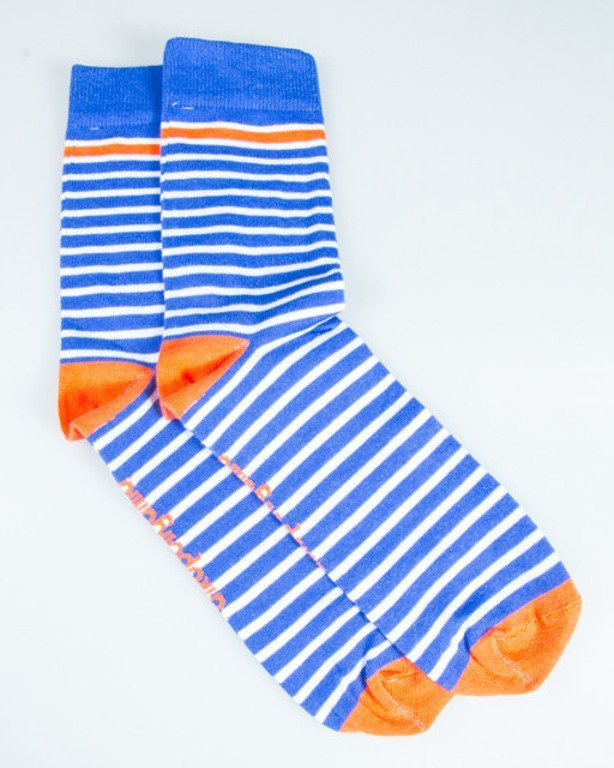 AKOPOLIGAMIA SOCKS STRIPES BLUE