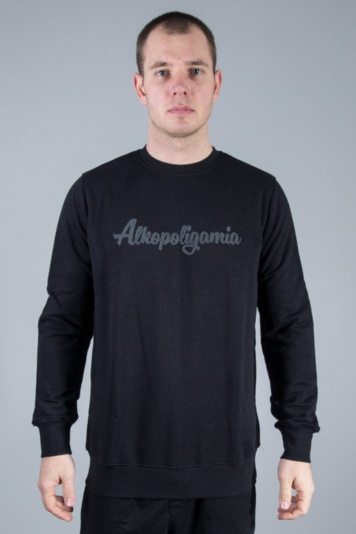 ALKOPOLIGAMIA CREWNECK BASIC BLACK