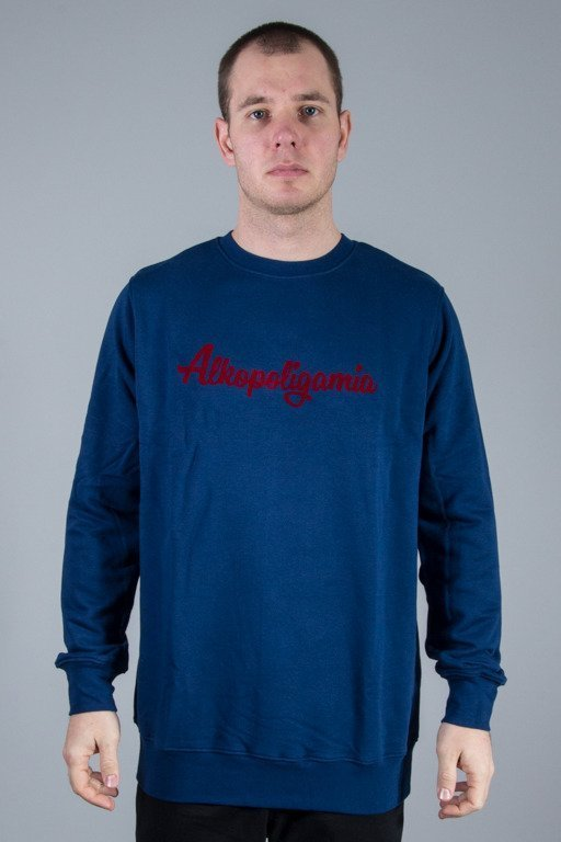 ALKOPOLIGAMIA CREWNECK BASIC NAVY