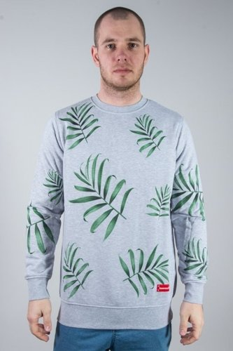 ALKOPOLIGAMIA CREWNECK LYL PALMS GREY