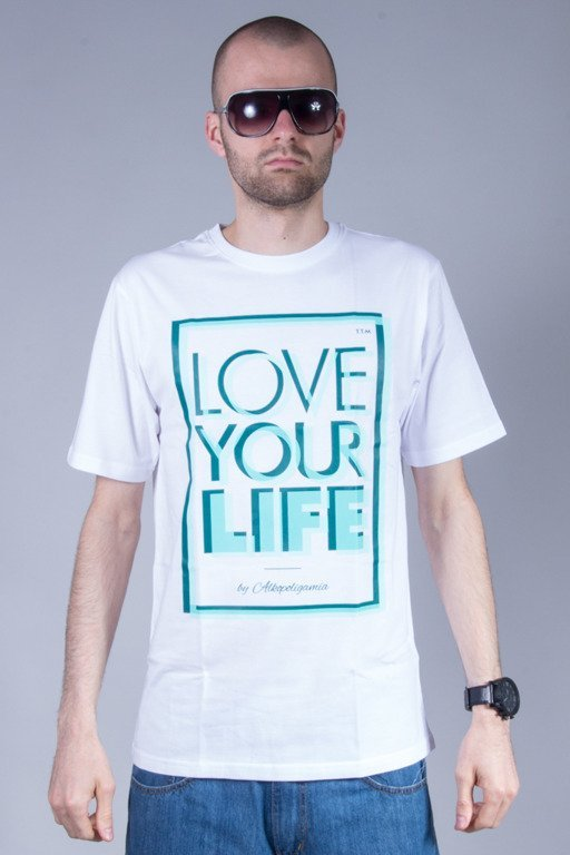 ALKOPOLIGAMIA T-SHIRT 3D WHITE-MINT