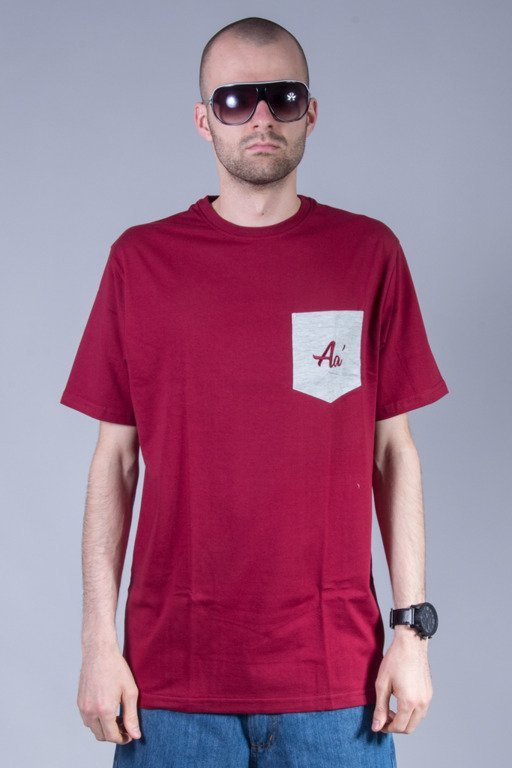 ALKOPOLIGAMIA T-SHIRT BASIC POCKET BRICK