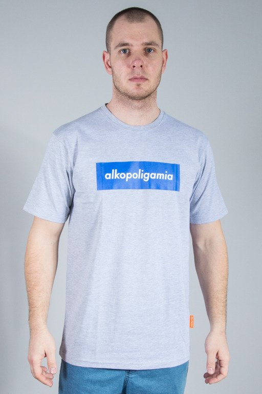 ALKOPOLIGAMIA T-SHIRT FLAME BOX GREY