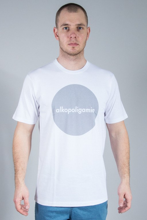 ALKOPOLIGAMIA T-SHIRT FLAME CIRCLE WHITE