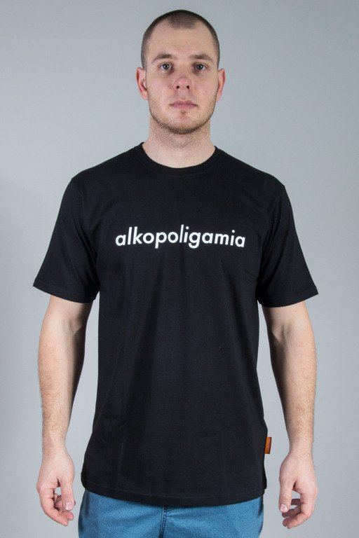 ALKOPOLIGAMIA T-SHIRT FLAME CLASSIC BLACK